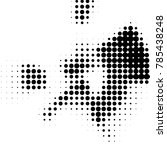 spotted black and white grunge...   Shutterstock .eps vector #785438248