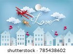 illustration of love and... | Shutterstock .eps vector #785438602