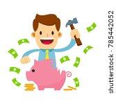 vector stock of a businessman... | Shutterstock .eps vector #785442052
