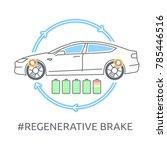 electric car icon. the tesla...   Shutterstock .eps vector #785446516