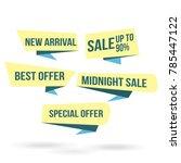 modern ribbon banner for... | Shutterstock .eps vector #785447122