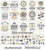 vintage retro vector logo for... | Shutterstock .eps vector #785450212