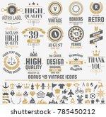 vintage retro vector logo for... | Shutterstock .eps vector #785450212