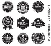 vintage retro vector logo for... | Shutterstock .eps vector #785450245