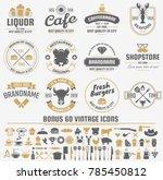 restaurant retro vector logo... | Shutterstock .eps vector #785450812