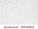white triangular abstract... | Shutterstock . vector #785450842