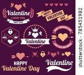 valentine template banner...   Shutterstock .eps vector #785451982