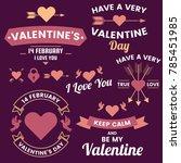 valentine template banner...   Shutterstock .eps vector #785451985