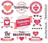 valentine template banner... | Shutterstock .eps vector #785452015