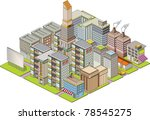 isometric building map | Shutterstock .eps vector #78545275