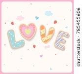 illustration vector of cute... | Shutterstock .eps vector #785455606