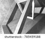 abstract geometric concrete... | Shutterstock . vector #785459188