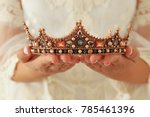 image of beautiful lady with... | Shutterstock . vector #785461396