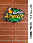 Small photo of BANGKOK, THAILAND- DECEMBER 31, 2017: The exterior brand logo of Cafe Amazon. Cafe Amazon is a chain of coffee shops, found by PTT Public Company Limited. Most shops are located in Southeast Asia.