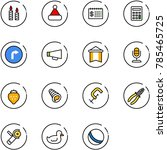 line vector icon set   candle...   Shutterstock .eps vector #785465725