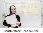 muslim asian woman working in...   Shutterstock . vector #785468722