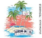 sketch illustration tropical... | Shutterstock .eps vector #785468818