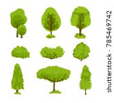 a set of green trees and bushes.... | Shutterstock . vector #785469742