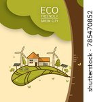 vector illustration of eco... | Shutterstock .eps vector #785470852