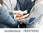 businessman team in suit... | Shutterstock . vector #785474542