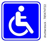 disabled  handicapped  person... | Shutterstock .eps vector #785474722