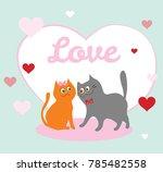 lovely funny lovers cats....   Shutterstock .eps vector #785482558