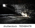 scary underground  old castle... | Shutterstock . vector #785484478