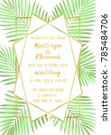 wedding invitation card with... | Shutterstock .eps vector #785484706