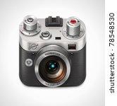 vector retro camera xxl icon  | Shutterstock .eps vector #78548530