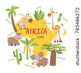 africa clipart. nature and... | Shutterstock .eps vector #785486272
