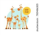 africa clipart. family of...   Shutterstock .eps vector #785486305