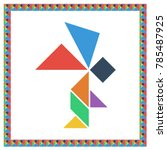 tangram brain game angel flat...
