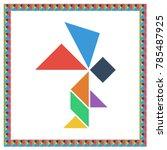 tangram brain game angel flat...