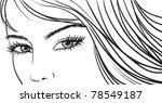 beautiful girl eyes and light...