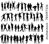 silhouettes of women and men | Shutterstock . vector #785497336
