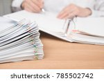 a pile of documents with the... | Shutterstock . vector #785502742