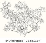 floral clip art  hand drawn... | Shutterstock .eps vector #78551194