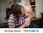 nose hygiene of a baby boy... | Shutterstock . vector #785518876