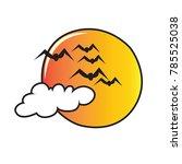 freehand bird cartoon fly in...   Shutterstock .eps vector #785525038