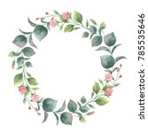watercolor hand painted round... | Shutterstock . vector #785535646