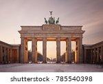 the brandenburg gate in berlin... | Shutterstock . vector #785540398