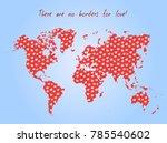 vector valentine day postcard   ... | Shutterstock .eps vector #785540602