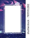 empty vertical web banner on... | Shutterstock . vector #785551282
