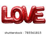 a set of four metallic balloon... | Shutterstock . vector #785561815