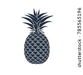 vector pineapple icon on white... | Shutterstock .eps vector #785565196