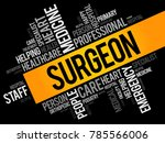 surgeon word cloud collage ... | Shutterstock .eps vector #785566006