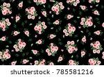 black floral pattern | Shutterstock . vector #785581216