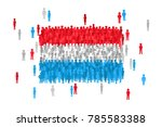 vector luxembourg state flag... | Shutterstock .eps vector #785583388