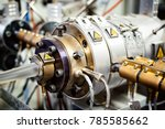 extruder machine for extrusion... | Shutterstock . vector #785585662