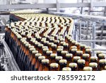 beer filling in a brewery  ... | Shutterstock . vector #785592172